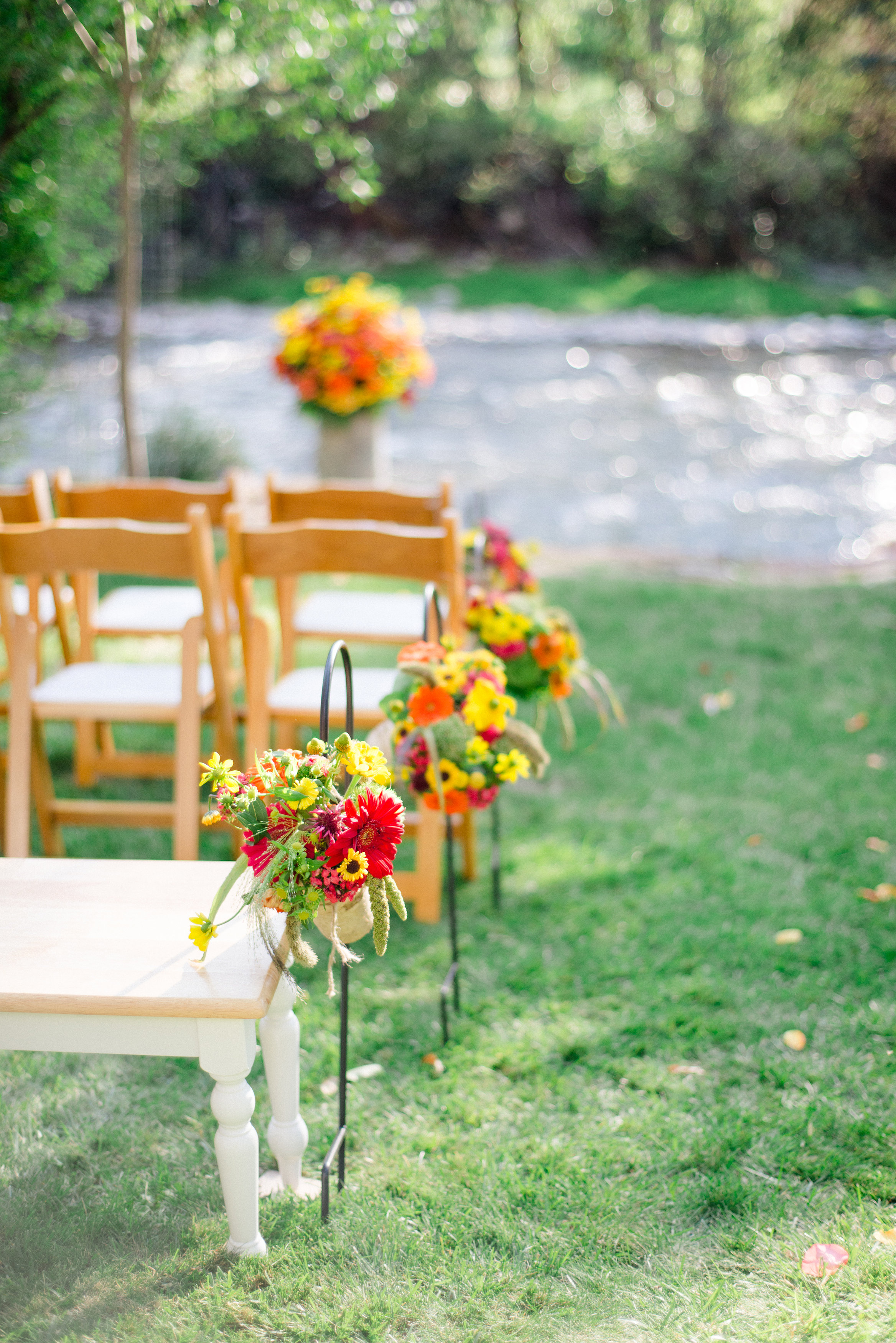 Cheerful Aisle Bouquets