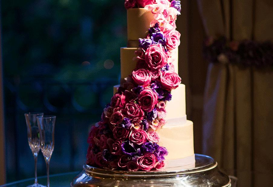 Cascading Cake Flowers