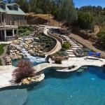 Custom Backyard Waterslide into Gunite Pool