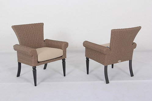 Pacific Shoreline Woven Aluminum Dining Chairs