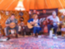 Threescore in Yurt Oulton Chapel gig 201