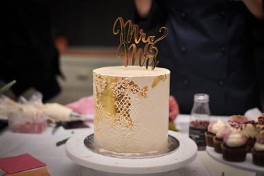Live kakedekorering - bryllup