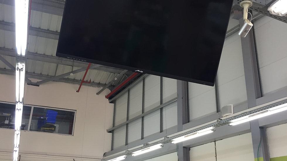 התקנת טלויזיה מהתקרה