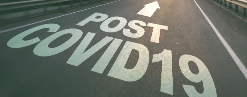 The empty road in the forest and the text on the asphalt _Post covid19__edited.jpg