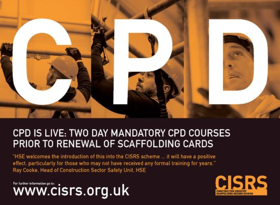 Scaffolder CISRS 2 day refresher course