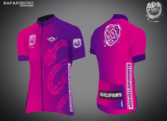 Camisa de Ciclismo Feminina GP Ravelli Etapa #1
