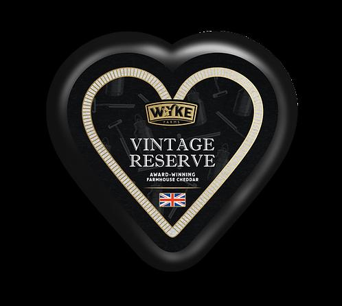 Wyke - Black Waxed Vintage Cheddar Heart 100g