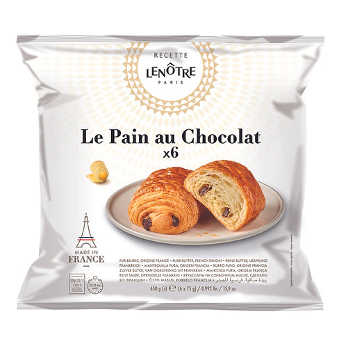Lenôtre - Pure Butter Pain Au Chocolat 6x75g