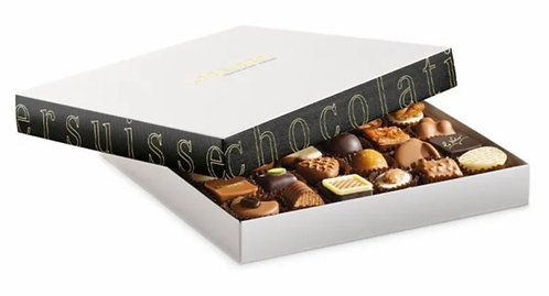Läderach - Praline and Truffle Noir Assortment 56 pcs