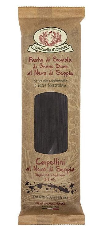 Rustichella - Squid Ink Capellini Pasta 500g