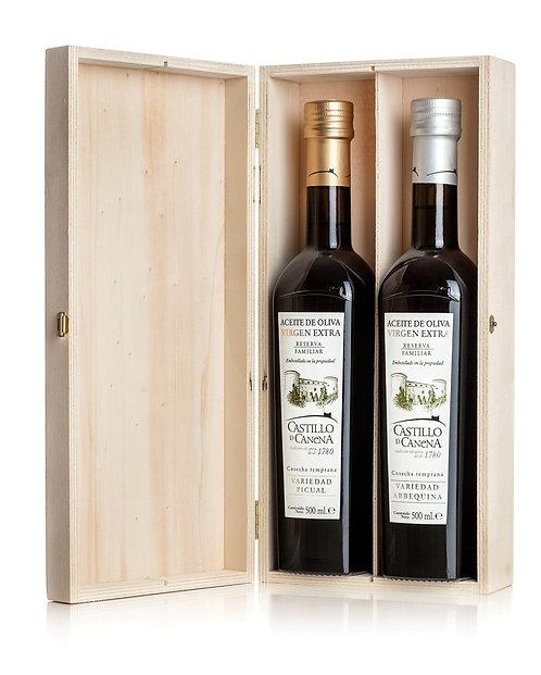 Castillo De Canena - Family Reserve Pine Gift Box 2 x 500ml