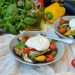 Homemade Burrata & Grilled Vegetable Salad (1 person)