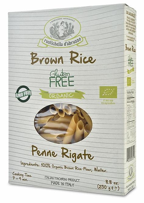 Rustichella - Organic Penne Rigate Pasta (Brown Rice Flour) 250g