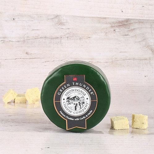 "Snowdonia - Mature Cheddar with Garlic & Herbs ""Green Thunder"" 200g"