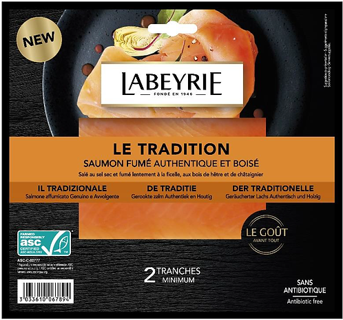 """Labeyrie - Smoked Salmon Gourmet """"Tradition"""" 75g"""