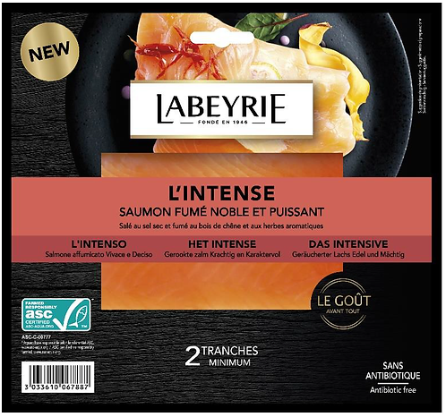 "Labeyrie - Smoked Salmon Gourmet ""The Intense"" 75g"
