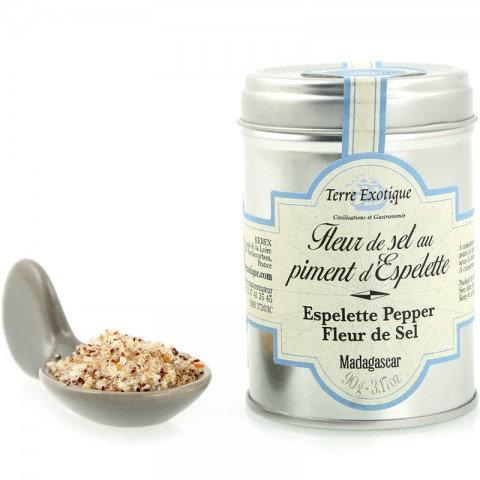 Terre Exotique - Fleur de Sel with Espelette Chili Pepper 90g