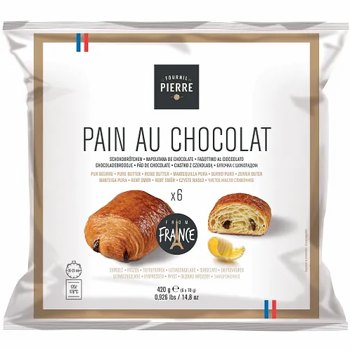 Le Fournil de Pierre - Pure Butter Pain Au Chocolat 6x70g