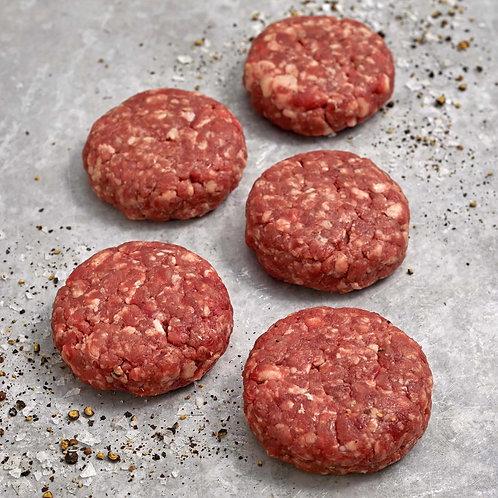 Organic Burger Sliders Patties x 10 pcs (50g)