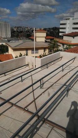estrutura de ferro para telhado bh