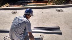 construindo telhado termo acústico