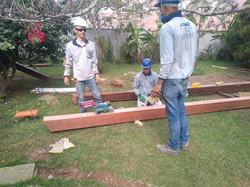 troca de vigas de madeiras em nova lima
