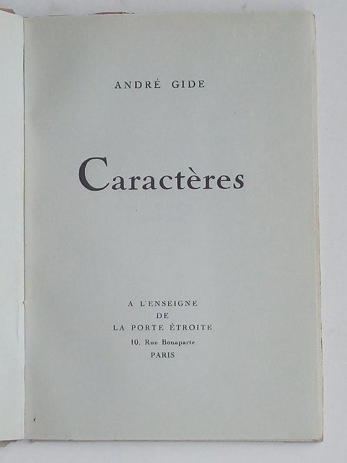 André gide / caractéres