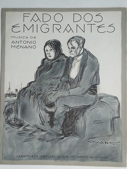 o fado dos emigrantes / antónio menano