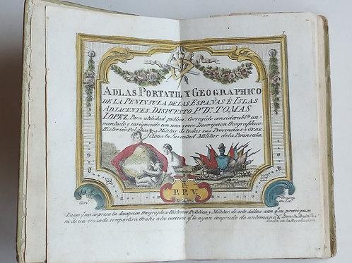 Adlas portatil y geographico de la peninsula de las espanhas / tomas