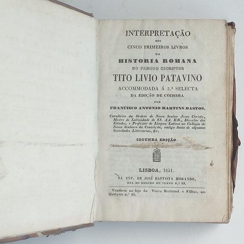Interpretação dos cinco primeiros livros da história romana