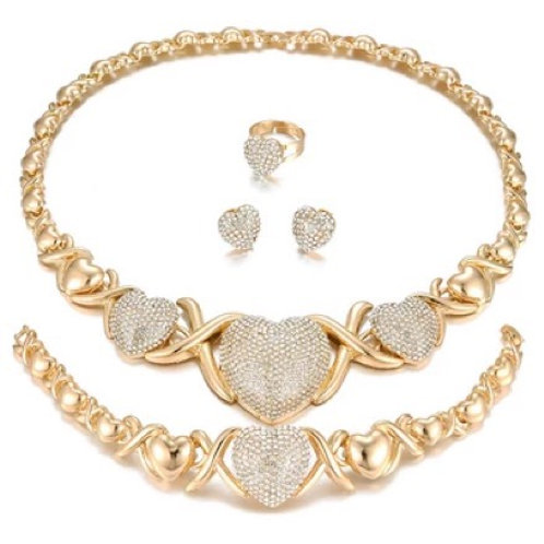 Big Heart Necklace Set