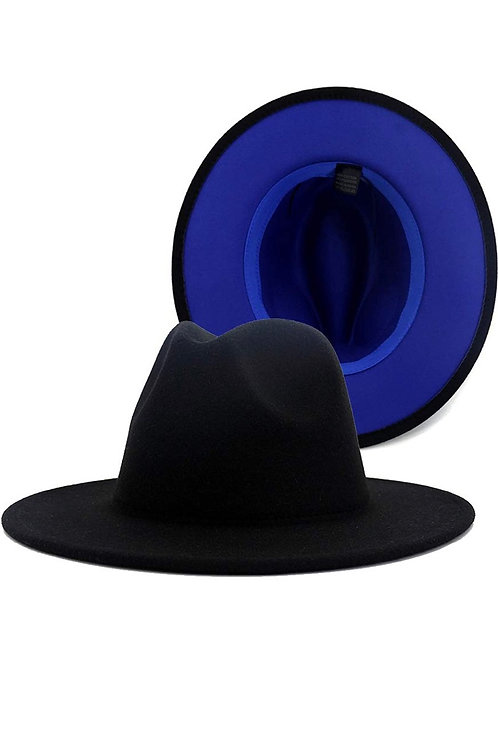 Black &  Blue Fedora Hat