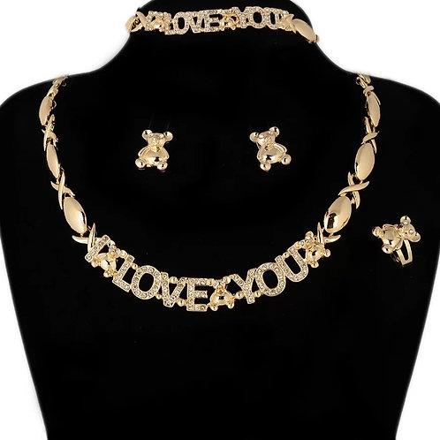 I love you necklace set