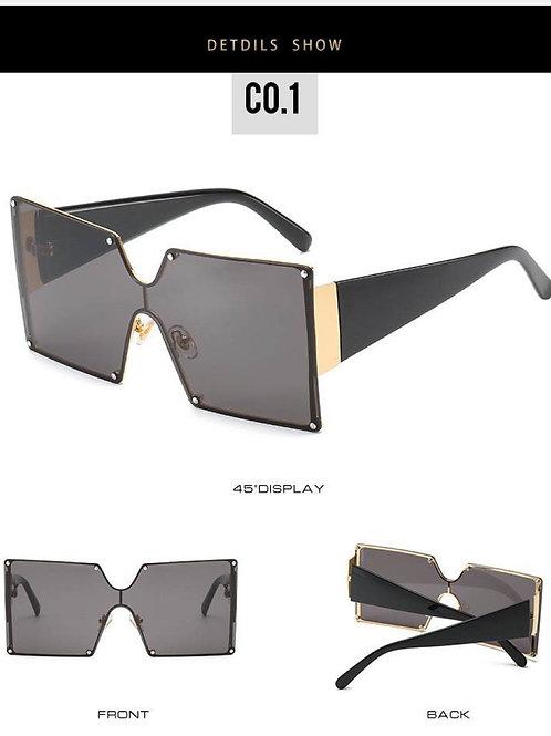 All black big frame sunglasses
