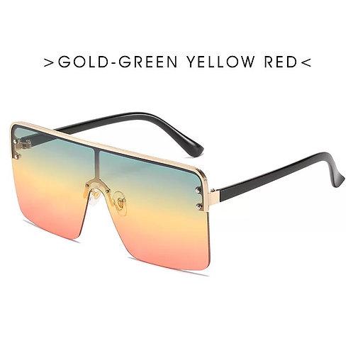 Green Yellow & Red Gradient Sunglasses