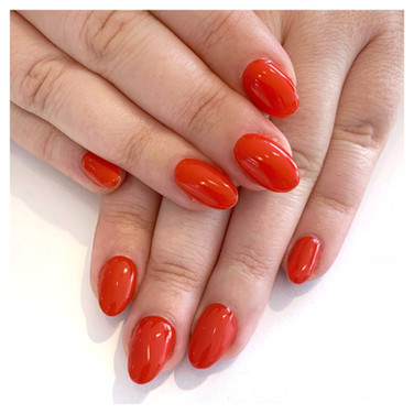 Ruby Red Gel Nails