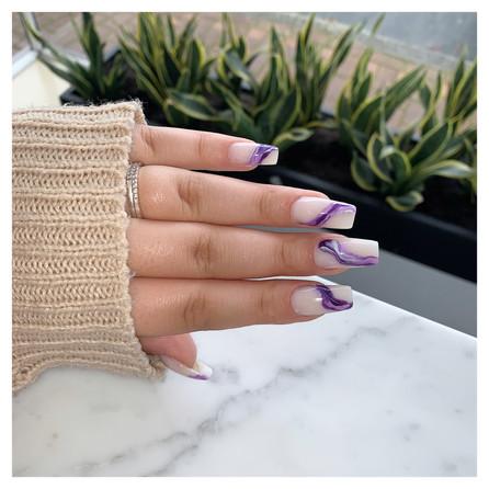 Nail Art on Acrylic Manicure