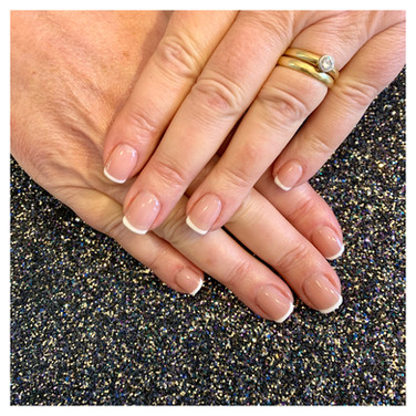 Healthy French Manicure Nails