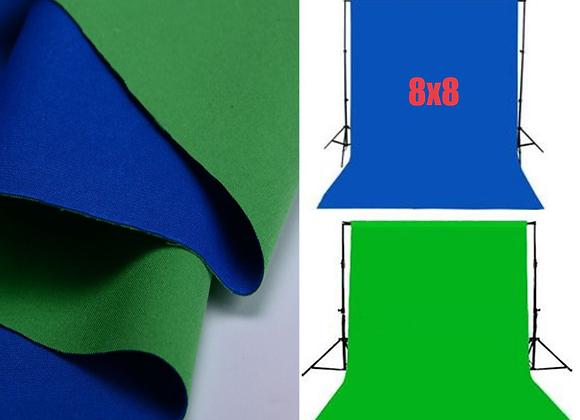 Фон 8' x 8' Cromakey Blue/Green