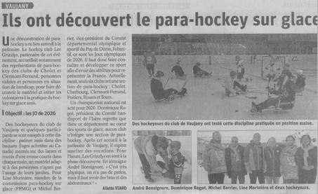 Du para-Hockey à Vaujany !
