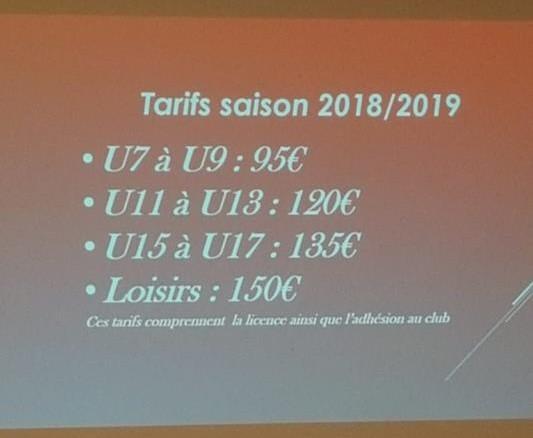 Voici les nouveaux tarifs