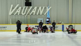 Les Grizzlys Mineurs partagent un instant de glace avec les Grizzlys ParaHockey