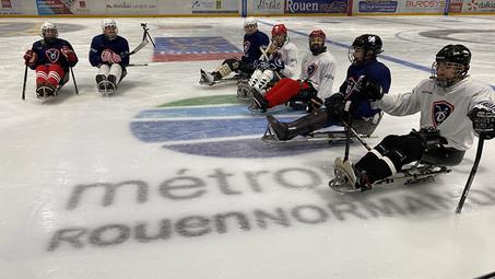 Un mini-camp de Para-Hockey-sur-Glace l'île Lacroix à Rouen !