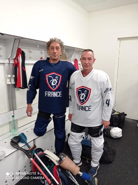 Marc et Claude prêts pour défendre les couleurs des Grizzlys lors des détections Equipe de France
