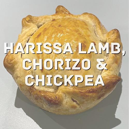 Harissa Lamb, Chorizo & Chickpea pie