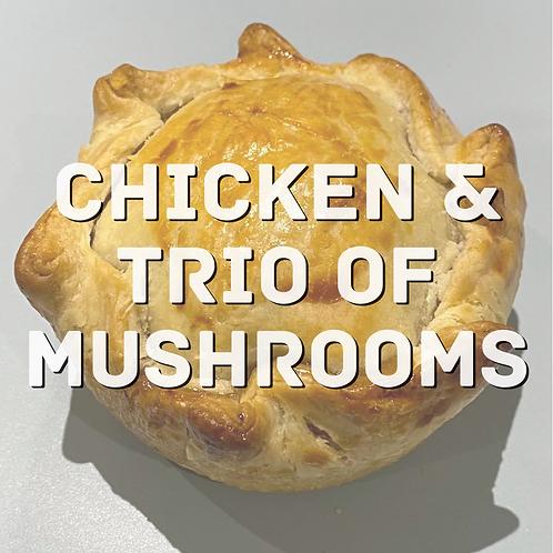 Chicken & Trio of Mushrooms Pie