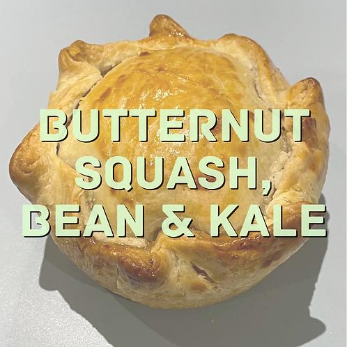 Butternut Squash, Bean & Kale pie