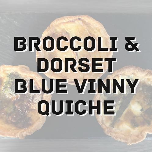Broccoli & Dorset Blue Vinny Quiche