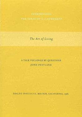 JOHN PENTLAND  The Art of Living