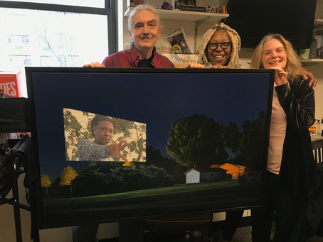 """""""The Reach of Starlight"""" delivered to Whoopi Goldberg at ABC Studios in Manhattan"""